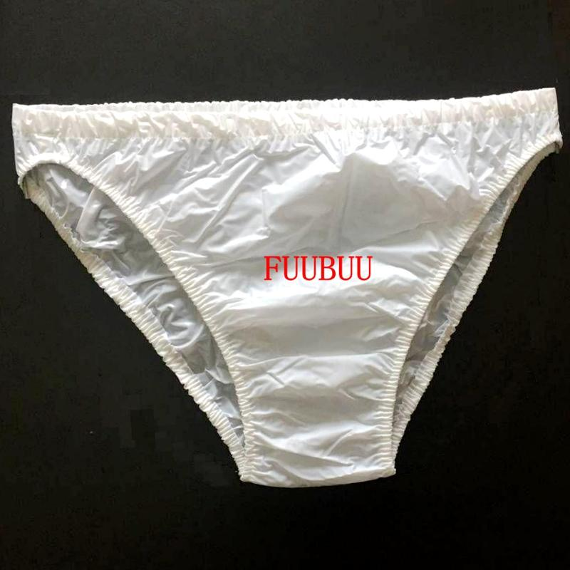 Free Shipping FUUBUU2205-White-L-2PCS adult diapers non disposable diaper adult baby plastic pants diaper adult nappy image