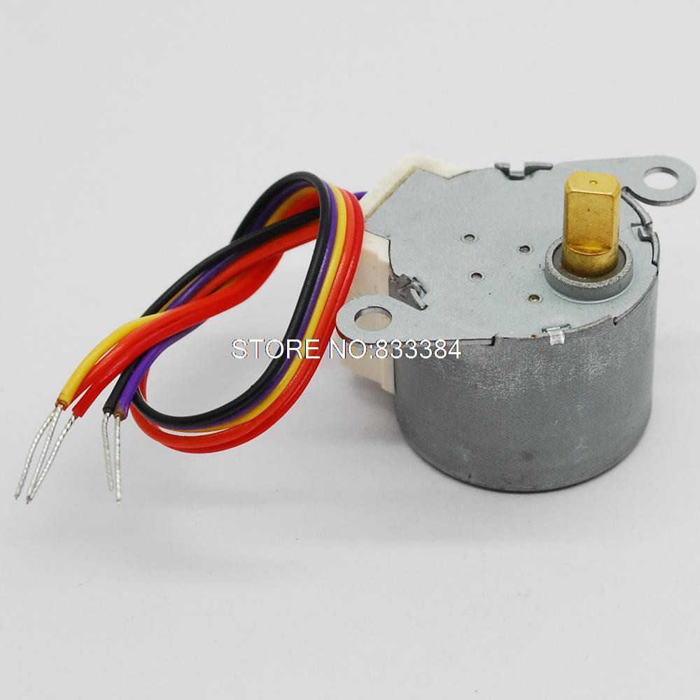 wholesale !! 10pcs Four-phase five-wire <font><b>24BYJ48</b></font> <font><b>12V</b></font> step stepping Stepper motor image