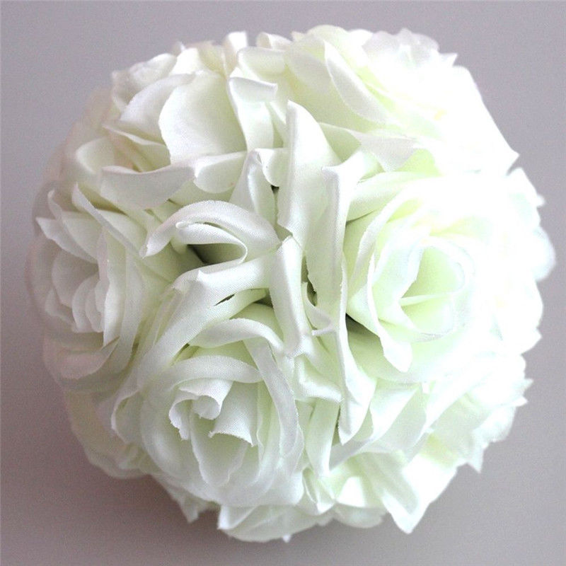 1pcs 15cm artificial silk flower rose kissing balls bouquet 1pcs 15cm artificial silk flower rose kissing balls bouquet centerpiece pomander party wedding centerpiece decorations in artificial dried flowers from mightylinksfo