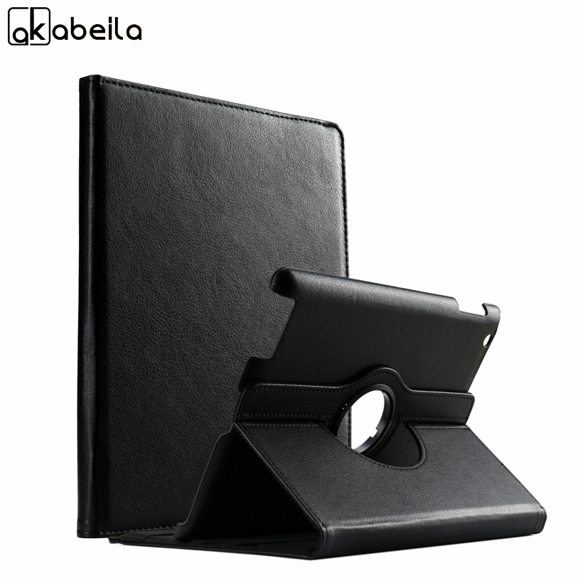 AKABLEILA Litchi Pattern Flip Tablet PU Leather Cases For Apple iPad 2/3/4 iPad2 3 4 Case 360 Rotating Stand Protective Cover