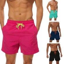1f7932eb69 Laamei Men Beach Short Summer Board Shorts Swimwear Short Briefs Male  Breathable Elastic Waist Short Masculino