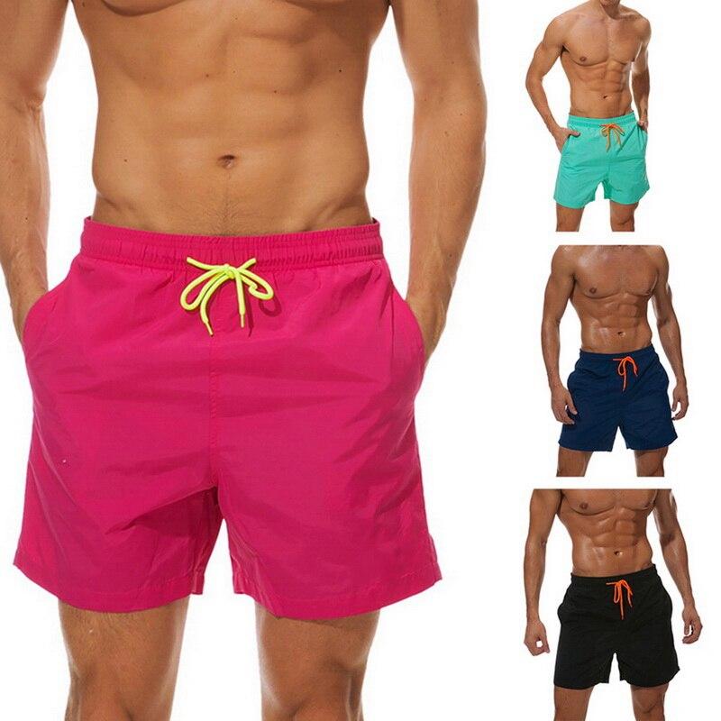 Laamei Men Beach   Short   Summer   Board     Shorts   Swimwear   Short   Briefs Male Breathable Elastic Waist   Short   Masculino Plus Size 3XL