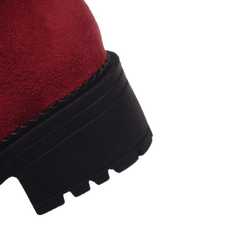 LLoprost KE New comfortable lesure elastic nubuck leather woman snow boots beauty fashion winter shoes women size 30-52 dxj482