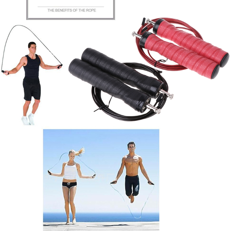 Speed Skipping Jump Rope Adjustable Steel Wire Gym Training Fitness Jumping Rope DONG63