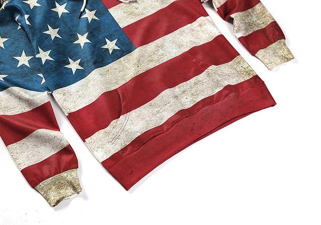 USA FLAG 3D HOODIES