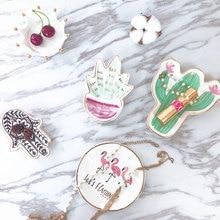 1pcs Nordic Style Cactus Flamingo Plate Ceramic Dish Decorative Crown Food Plate Jewelry Trays Rings Bracelets Holder Creative G