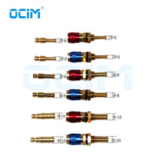 1PC Red And 1PC Blue Water Cooled Gas Adapter Quick Connector Fitting For MIG and TIG Welding Torch