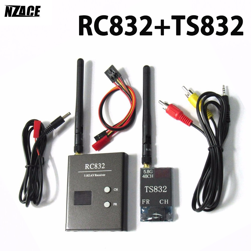OCDAY 5km FPV System Boscam 5.8Ghz 600mW AV 48CH Transmitter TS832 and Receiver RC832 FPV System RP-SMA For FPV 250 Quadcopter high quality boscam rc832 fpv 5 8g 48ch wireless av receiver for fpv multicopter
