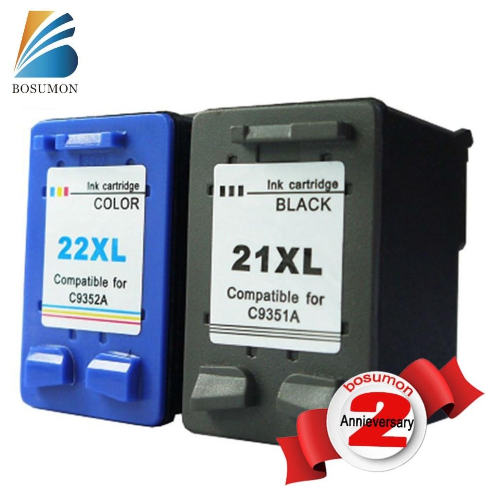 где купить  BOSUMON Compatible Ink Cartridge For HP cartridges 21 and 22 Cartridges for HP printer 3915 D1530 D1320 F2100 F2280 F4100 F4180  по лучшей цене