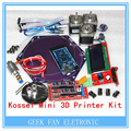 Kossel Mini 3D Kit de impressora de vidro borosilicato Kossel HeatBed 2560 DRV de LCD12864 Ramps1.4 + Mega 8825 + Nema17 motor de passo Dvr8825