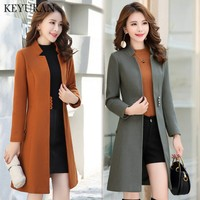 Elegant Woolen Coat Jacket 2019 Winter New Women Unique Chic Button Slim Stand Collar Woolen Outerwear Overcoat Casaco Feminino