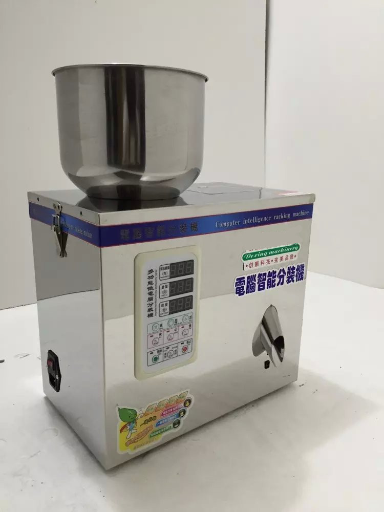 1-25g tea weighing machine,grain,medicine,seed,salt packing machine,powder filler 2 100g grain medicine packing machine herb tea packing machine tea sorting machine and weighing machine