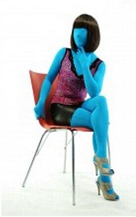 (fzs062) Fetish Zentai Tuta Crossdresser Promenade Del Partito Lago Blu Halloween Costumi Cosplay