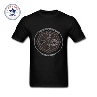 2017 Teenage Youth Funny Game Of Thrones The House Of Stark Winterfell Wolf Cotton Funny T