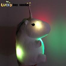 LED grow lighting rainbow Unicorn Plush Toy Cartoon unicorn indoor plush slippers Winter Warm Indoor Slippers