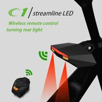 2017 Bike Taillight Safety Warning USB Rechargeable Wireless Remote Turning Rear Light