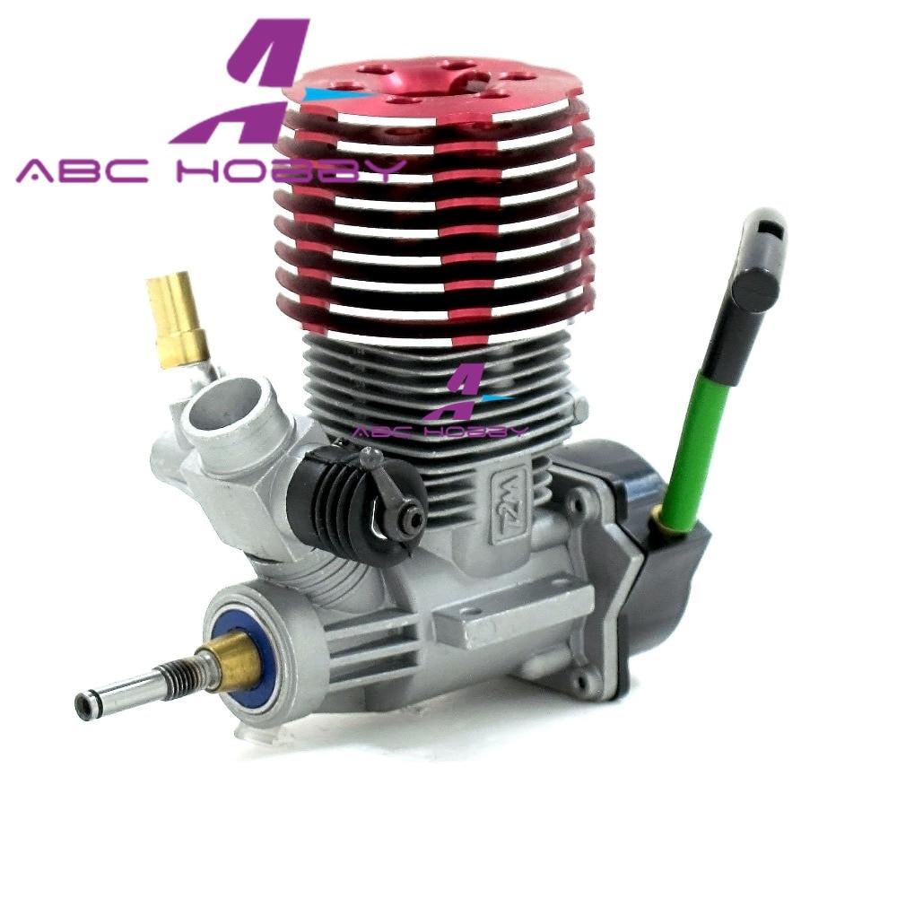 ASP 28CX dwusuwowy 2 skok metanol silnik Nitro z Pull Starter 4.5cc dla 1/8 Buggy RC Model samochodu RC hobby RC zabawki w Części i akcesoria od Zabawki i hobby na  Grupa 1