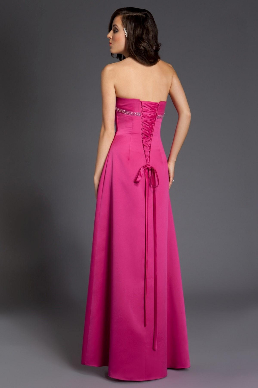 2015 fuschia bridesmaid dresses sexy formal prom gowns pink lace 2015 fuschia bridesmaid dresses sexy formal prom gowns pink lace up cheap long dress plus size for wedding maid of honor crystal in bridesmaid dresses from ombrellifo Images