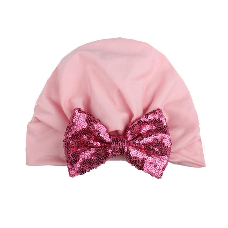 Autumn Winter Crochet Baby Hat Flower Hollow Sequins bowknot india hat Bohemian wind Kids Beanie nfant Hat Cotton child cap