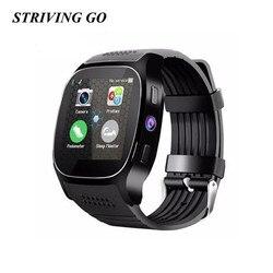 Bluetooth T8 zegarek smart watch z ekranem dotykowym z kamerą zegarek Bluetooth dla android ios telefon Smartwatch PK X3 U8 A1 DZ09 Q18 X6 w Inteligentne zegarki od Elektronika użytkowa na