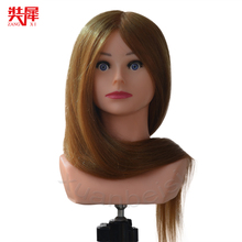 High Grade 85% Natural Hairstyle Head Manikin With Human Hair Hairdressing Mannequins Mannequin Hairdresser