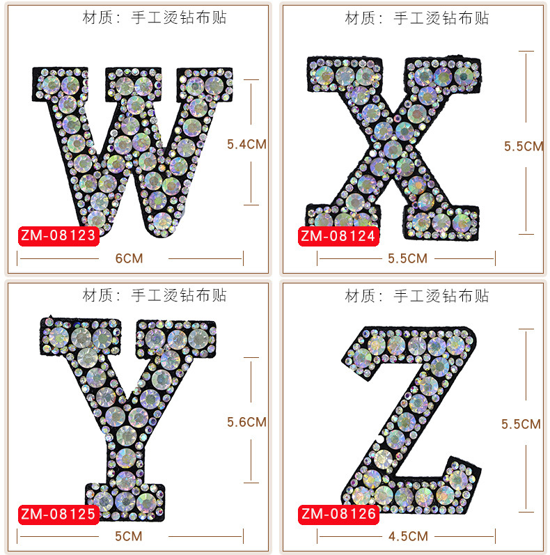 HTB1oPJEQSzqK1RjSZFpq6ykSXXaP A-Z 1pcs Rhinestone English Alphabet Letter Applique 3D Iron On letters Patch For Clothing Badge Paste For Clothes Bag Shoes