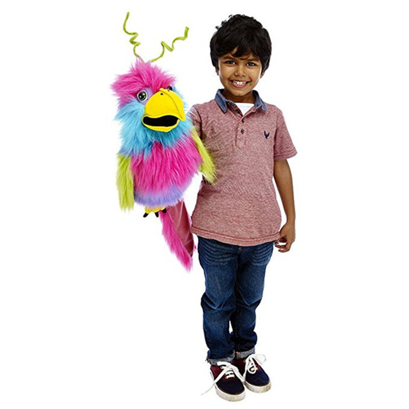 New Large Birds Bird Of Paradise& Cockatiel & Crow  Blue & Gold Macaw Hand Puppet  Snappers Chuckle Monster Stuffed Toy Doll