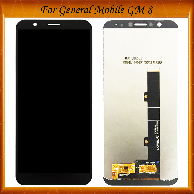 100% Working Well 5.7inch For General Mobile GM8 GM 8 LCD Display + Touch Screen Assembly Panel Replacement(China)