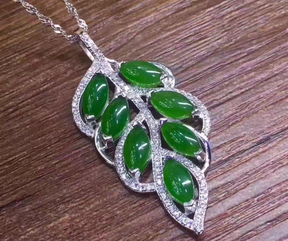 Green jasper pendant necklace green gemstone jewellery  |Green Jasper Jewelry
