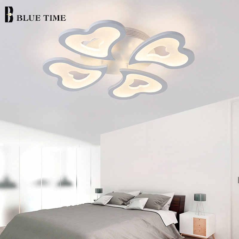 Новейший белый светодио дный цвет современный светодиодный потолочный светильник для гостиной спальни Plafon светодио дный Домашнее освещение потолочный светильник Домашнее освещение светильники