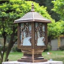 Купить с кэшбэком waterproof outdoor pillar lamp E27 fence park villa gazebo column light decoration landscape chapiter lighting WCS-OCL0041