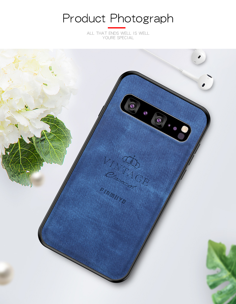 For Samsung S10 5G Original PINWUYO VINTAGE PU Leather Protective Phone Case for Samsung Galaxy S10 5G Shockproof Shell Case in Half wrapped Cases from Cellphones Telecommunications