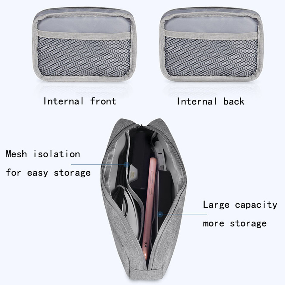 Travel Storage Portable Digital Accessories Gadget Devices Organizer USB Cable Charger Storage Case Travel Cable Organizer Bag (7)