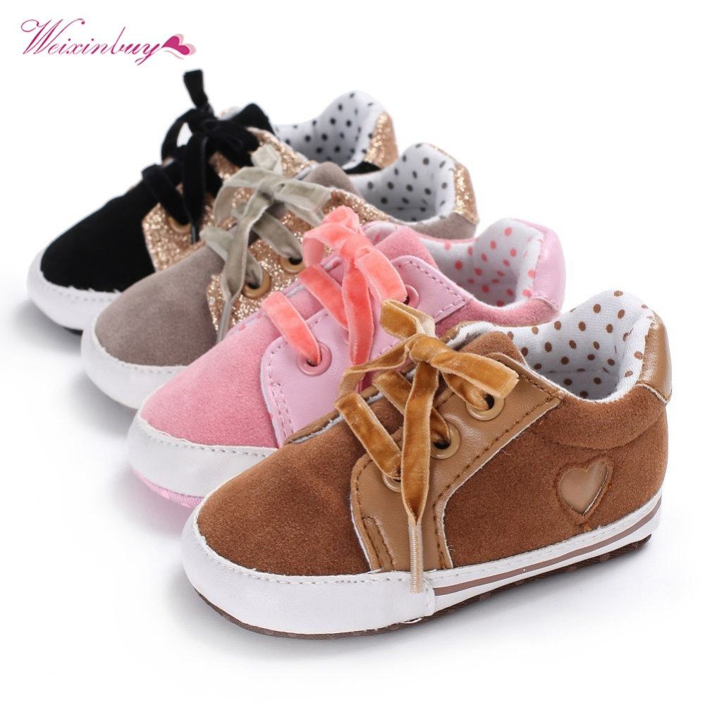 WEIXINBUY Baby Shoes First Walkers PU Leather Newborn Boy Girl Baby Soft Shoes Bebe Soft Soled Non-slip Footwear Crib Shoes