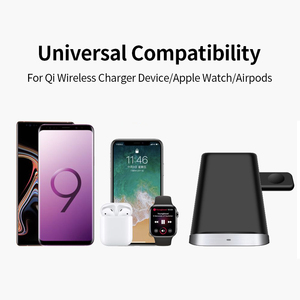 Image 5 - Fast Charge Wireless Charger Stand For Iphone XS XR 11 3 In 1 Wireless Charger Dock Station For Apple Watch Airpods Stand