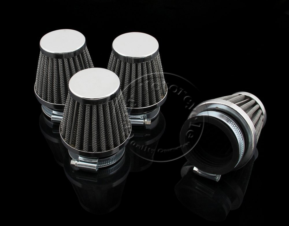 4 x Motorcycle 48mm Air Filter For Honda CB Kawasaki KZ250 KZ250A A1 A2 A3 KZ250B B1 B2 GPZ 305 Suzuki GS GSX Yamaha DT XS