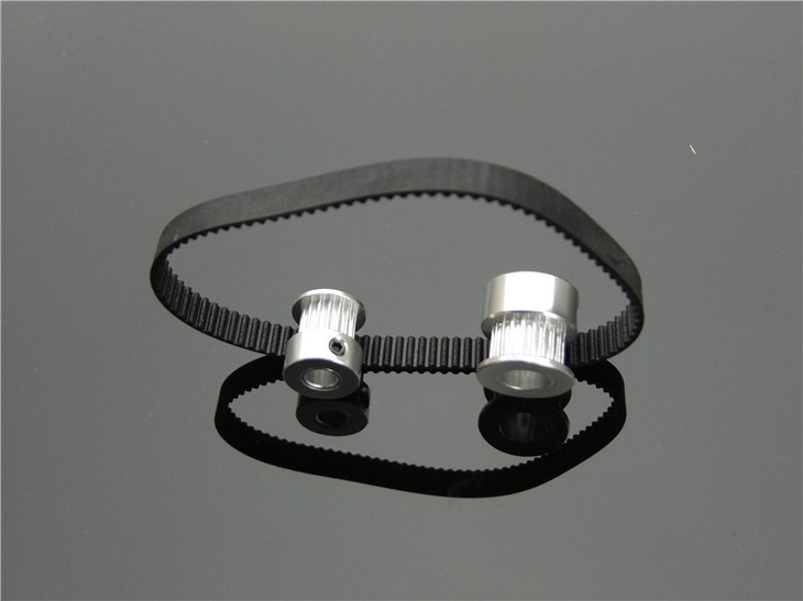 Fine Quality Black Rubber 2GT-6 232mm Perimeter Timing Belt 6mm Width Closed Loop Synchronous Belt Transmission Accessories 7