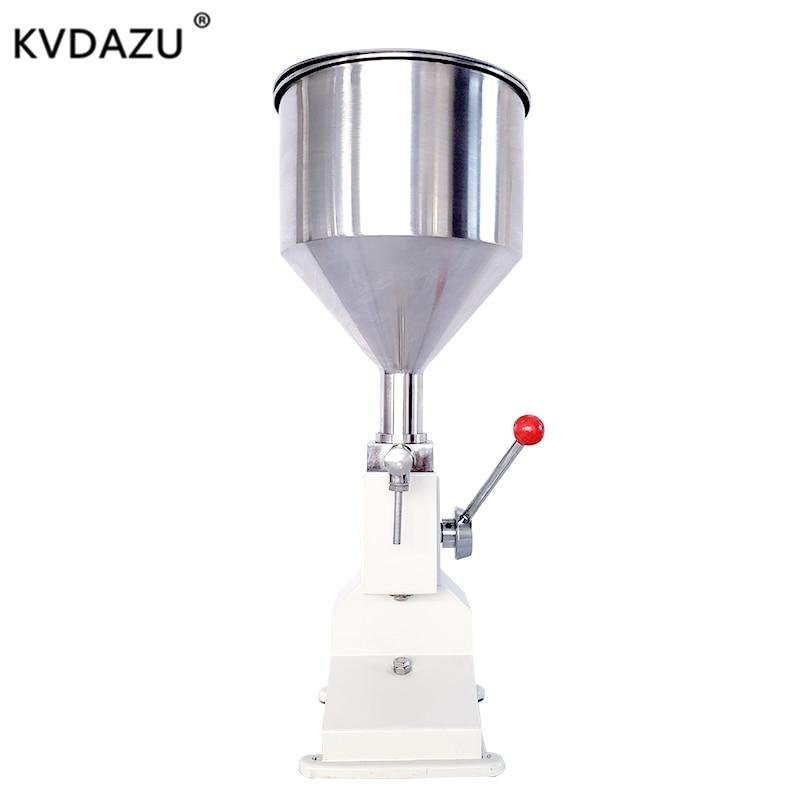 Liquid Filling Machine Manual Hand Pressure Stainless Food Paste Dispensing Honey Dressing  Packaging Equipment Cream Filler