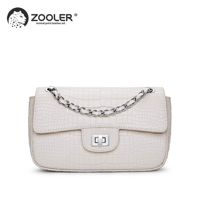 ZOOLER Genuine Leather woman bags 2019 hot  classic Shoulder Bags small Messenger Bag Ladies chains bolsa feminina #ZF200ZOOLER Genuine Leather woman bags 2019 hot  classic Shoulder Bags small Messenger Bag Ladies chains bolsa feminina #ZF200
