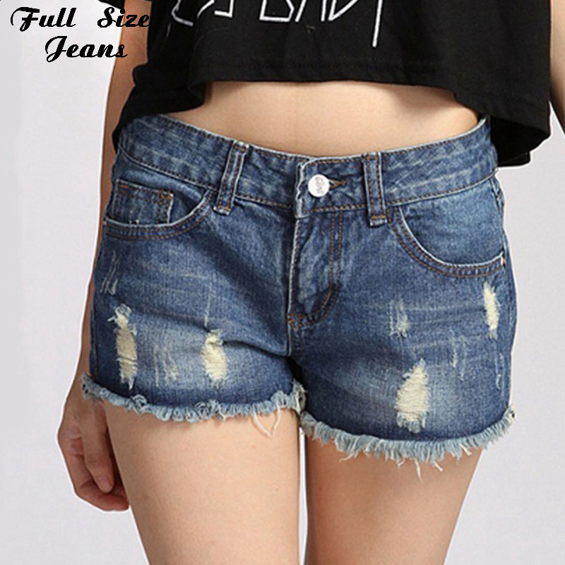 women sexy denim ripped mini shorts frayed cuffs salopette short femme jean plus size super. Black Bedroom Furniture Sets. Home Design Ideas