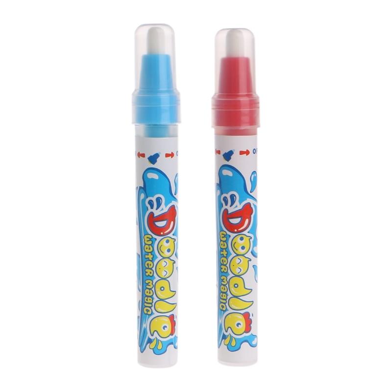 2Pcs Água Mat Desenho Pintura Caneta Caneta Mágica Desenho Brinquedo de Aprendizagem da Criança