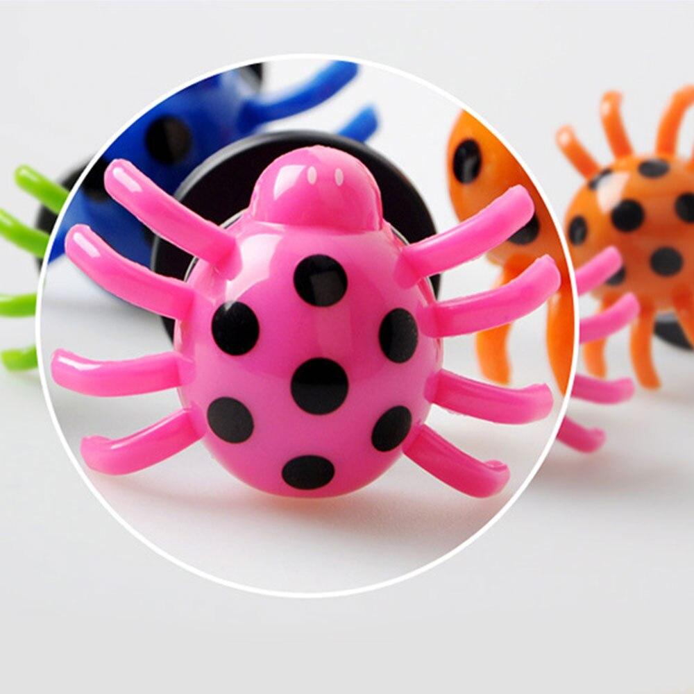 Jumping Spider весенний игрушечный с функцией прыжка насекомые-пауки 2 шт цвет случайный анти-стресс вечерние игрушки прекрасный цвет Красочные вечерние реквизит