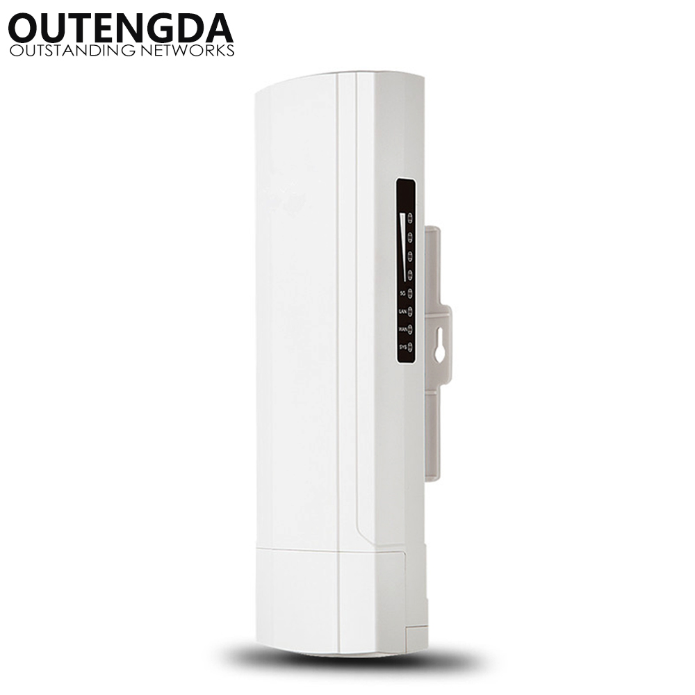 OUTENGDA 300Mbps 3.5Km Outdoor CPE AP 5.8Ghz WiFi Bridge Router 1000mW Wireless Wi-fi Repeater 15dBi Antenna 24V Poe Adapter outengda белый