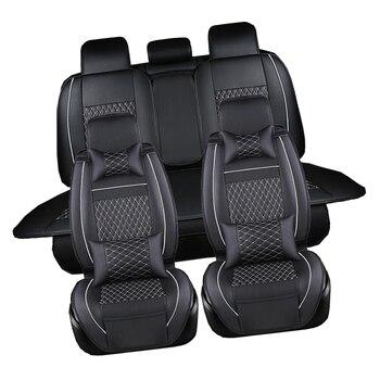 (1 Set) PU leather Car Seat Cover Seat Cover Protection auto Seat For Kia Sportage Sportager Sorento Carens Kx5
