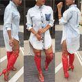 Moda caliente elegante estilo 2015 mujeres del vestido del vendaje atractivo midi vestido vestidos estampados elegantes SY5089