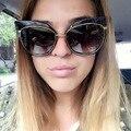 AFOFOO Мода Cat Eye Солнцезащитные Очки Luxury Brand Дизайнер Металл Негабаритных Женщины Зеркало Солнцезащитные Очки Старинные UV400 Оттенки