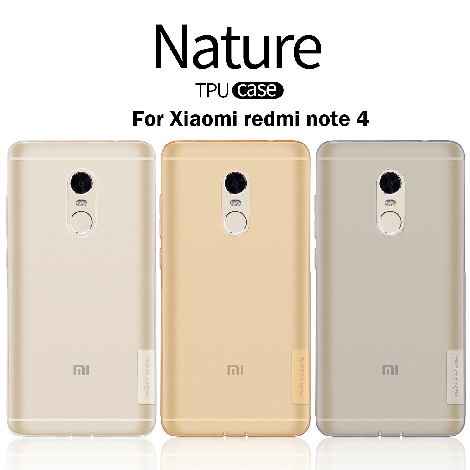 NILLKIN For Xiaomi Redmi Note 4 Cover Ultra Thin Slim TPU Case Soft TPU Back Phone Cover For Xiaomi Redmi Note4