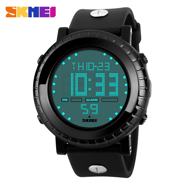 SKMEI Brand Men Digital LED Display Sport Watch Relogio Masculino 50M Waterproof Multifunction Wristwatches Mens Sports Watches