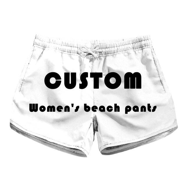 Custom  New 2018 Trendy fashion Women Shorts Summer Beach Casual Rose flower print Loose Shorts women board short