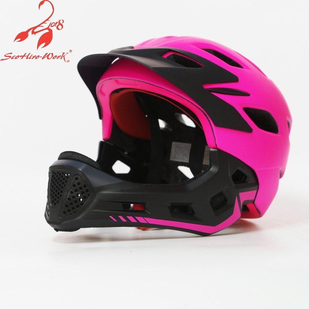 2019 enfants casque de cyclisme intégral enfants descente vtt casque de vélo pro skateboard ultra-léger montagne route casque de vélo garçons